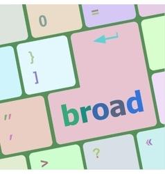 Broad word on keyboard key vector