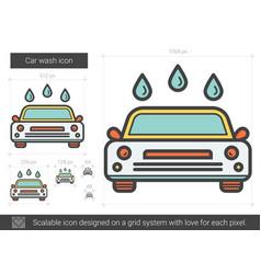 Car wash line icon vector