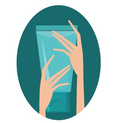 cream for hands vector image vector image