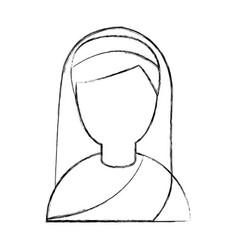 Cute nun avatar character vector