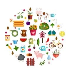 farm life nature vector image vector image
