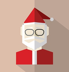 Flat Design Santa Claus vector image vector image