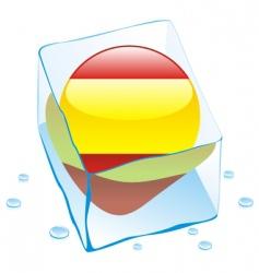 frozen button flag of spain vector image vector image