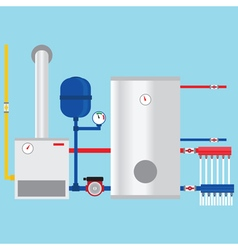 Gas boiler in the cottage vector image