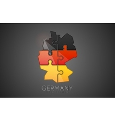 Germany logo Puzzle Germany logo design Creative vector image