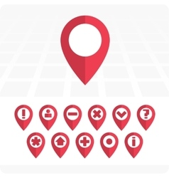 GPS Icons pink vector image