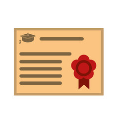 Graduation diploma achievement vector