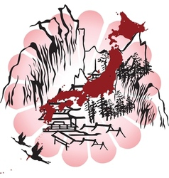 interpreted the image of Japan vector image vector image