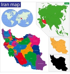 Islamic Republic of Iran vector image