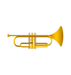 Isolated cornet musical instrument vector