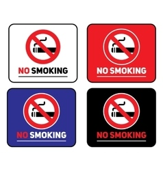 Labels set No smoking stickers vector image