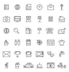 Linear icons Thin icon and signs outline symbol vector image vector image