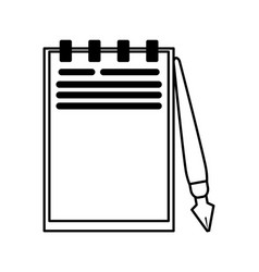 notepad with fountain pen icon image vector image vector image