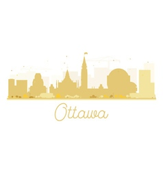 Ottawa city skyline golden silhouette vector