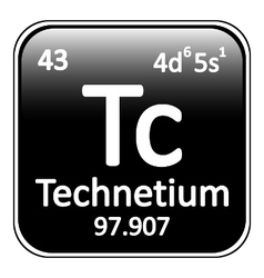 Periodic table element technetium icon vector