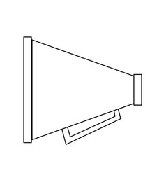 Portable loudspeaker megaphone icon image vector