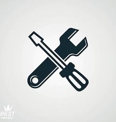 Repair tool service symbol vector
