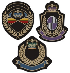 Royal badge vector