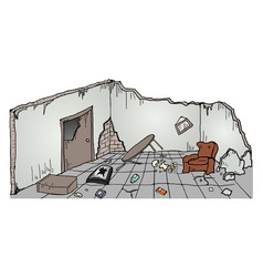 Ruins house vector