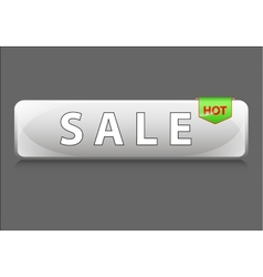 Sale glass icon for your business and promo vector image