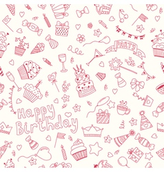 Seamless pattern with Birthday elements Birthday vector image vector image