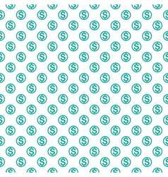 Seamless pattern with dollar sign Repeating vector image vector image