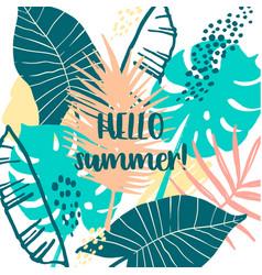summer tropical design template design vector image vector image