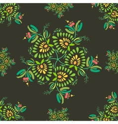 Texture With Flowers And Leaves vector image vector image