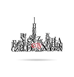 Typography city silhouette vector