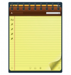 vector notepad template vector image