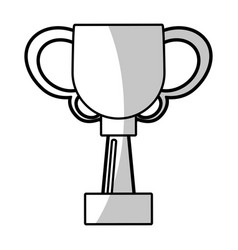 winner cup trophy prize - shadow vector image