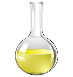 Yellow liquid in test tube vector image
