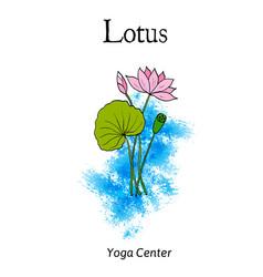 yoga center emblem vector image