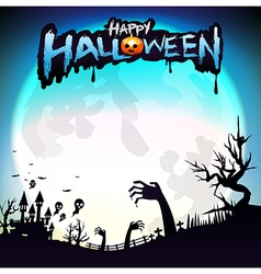 Happy halloween party calligraphy and design vector