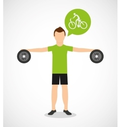Athlete avatar with sport icon vector