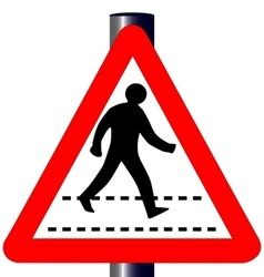 Pedestrian traffic sign vector