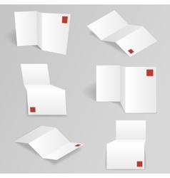 White accordion paper different points of view vector