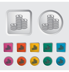 Icon coins vector
