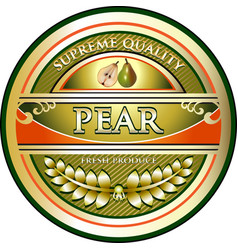 Pear gold icon vector