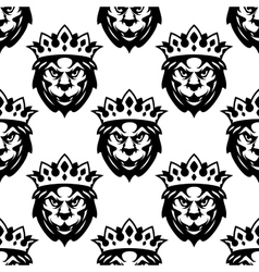 Seamless pattern of a royal lion vector