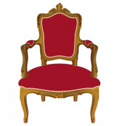 Louis xv armchair vector