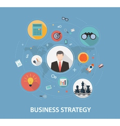 Business strategy on flat style design vector