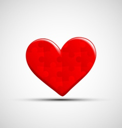 icons of human heart consists of puzzles vector image