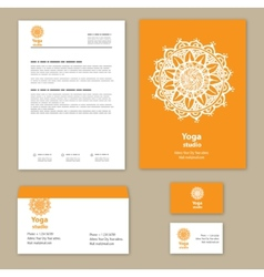 Template corporate style with a round ornament vector image