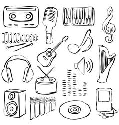Music doodle images vector