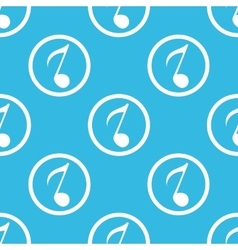 8th note sign blue pattern vector