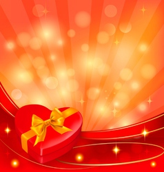 Valentine heart background vector