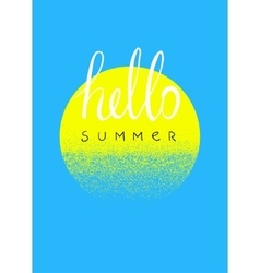Hello summer typographic summer design card vector