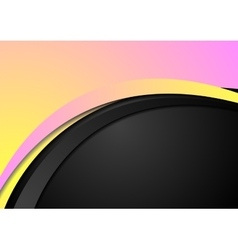 Abstract yellow and pink wavy corporate background vector image