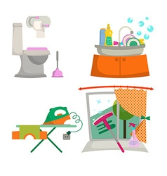 Items for the house cleaning vector